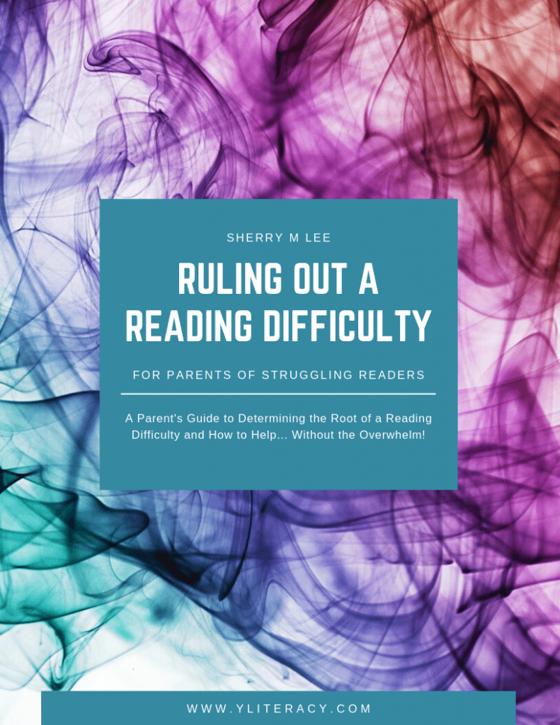 Y Literacy Ruling Out a Reading Difficulty