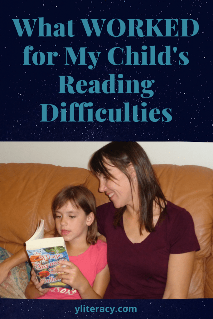 What worked for my child's reading difficulties; how to help struggling readers; reading difficulties struggling readers; reading disabilities types of; #readingdisabilities #helpingchildrenread