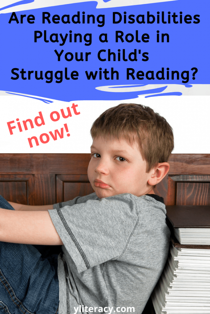 Are reading disabilities playing a role in your child's struggle with reading?; reading support struggling readers; reading disabilities types of; learning disabilities in reading; dyslexia resources; #readingdisabilities #supportingstrugglingreaders